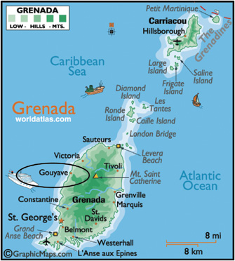 Placing The Commons At The Heart Of Community Development Three - Map of grenada world